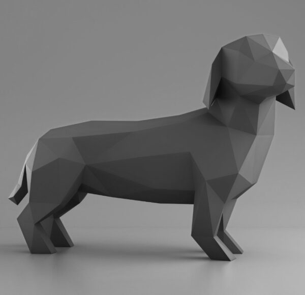 3D Papercraft Dachshund