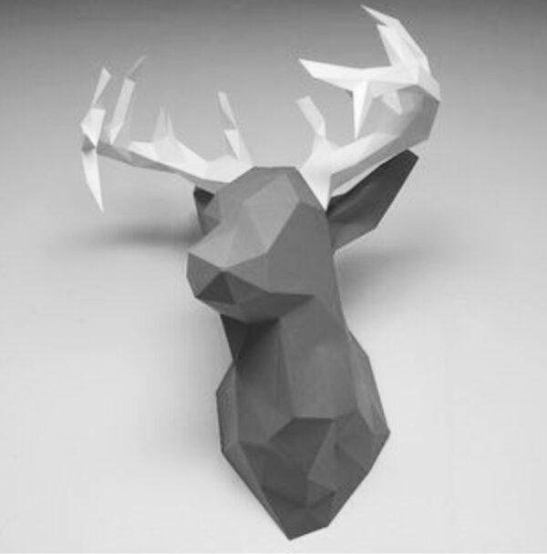 3D Papercraft Deer head
