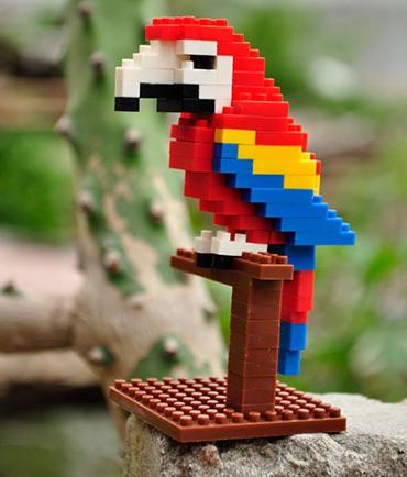 Nanoblocks Scarlet Macaw