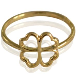 Ring Clover goud