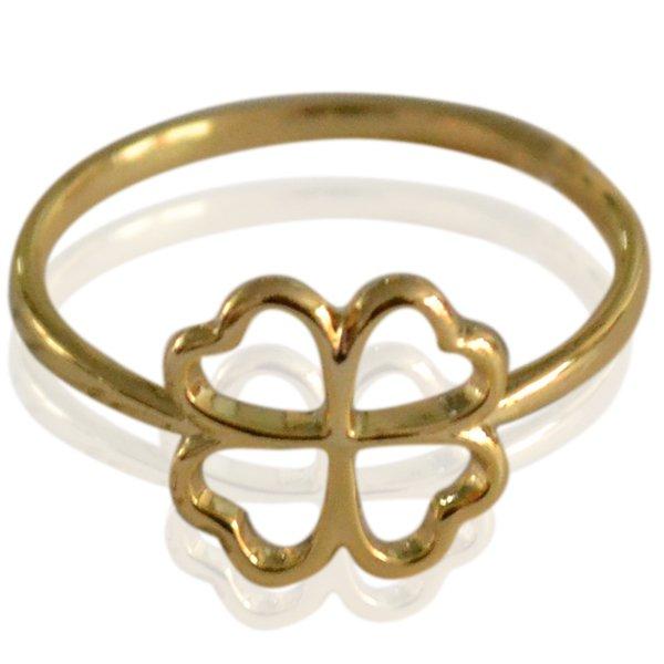 Ring Clover goud