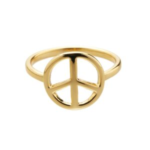 Ring Peace goud