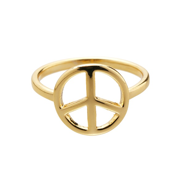 Ring Peace goud